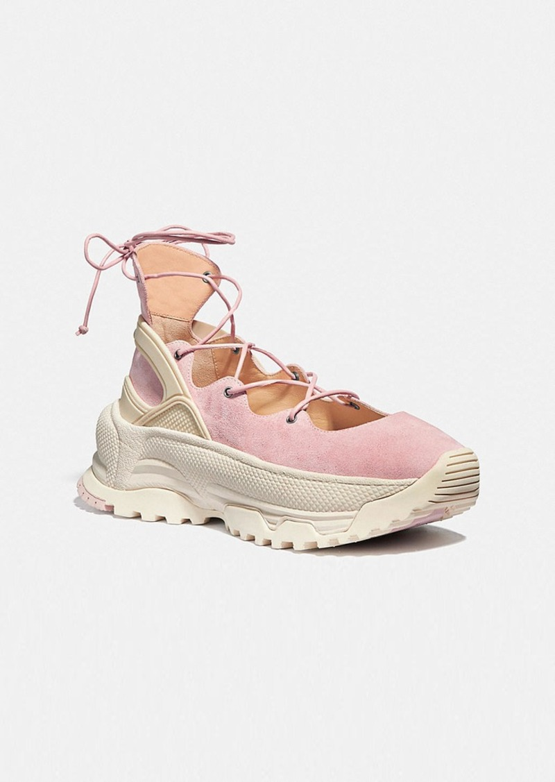 Coach lace up ballerina sneaker