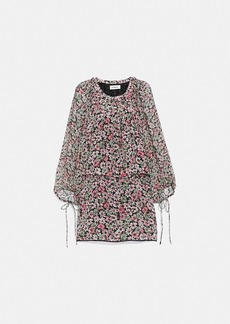 Coach lacey dress with billowy sleeves