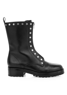 Coach Lara Studded Leather Combat Boots
