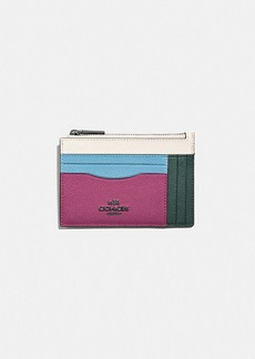 Coach large card case in colorblock