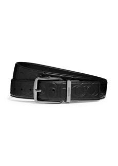 Coach Leather Logo Belt