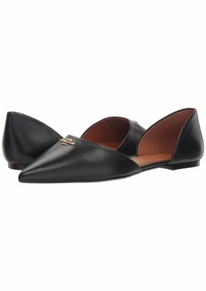 Coach Leather Pointy Toe Flat
