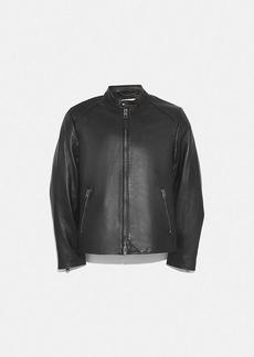 Coach leather racer jacket