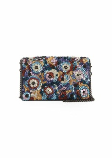 Coach Leather Sequined Fold-Over Chain Clutch Bag