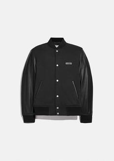 Coach leather sleeve jacket