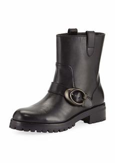 Coach Leighton Buckle Moto Boots