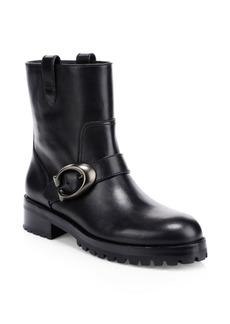 Coach Leighton Leather Moto Boots