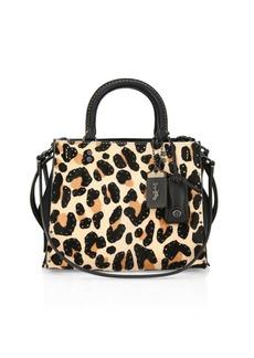Coach Leopard Print Calf Hair Crossbody Bag