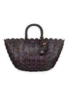 Coach Linked Tea Rose Top-Handle Bag