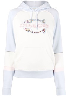 Coach logo embroidered hoodie