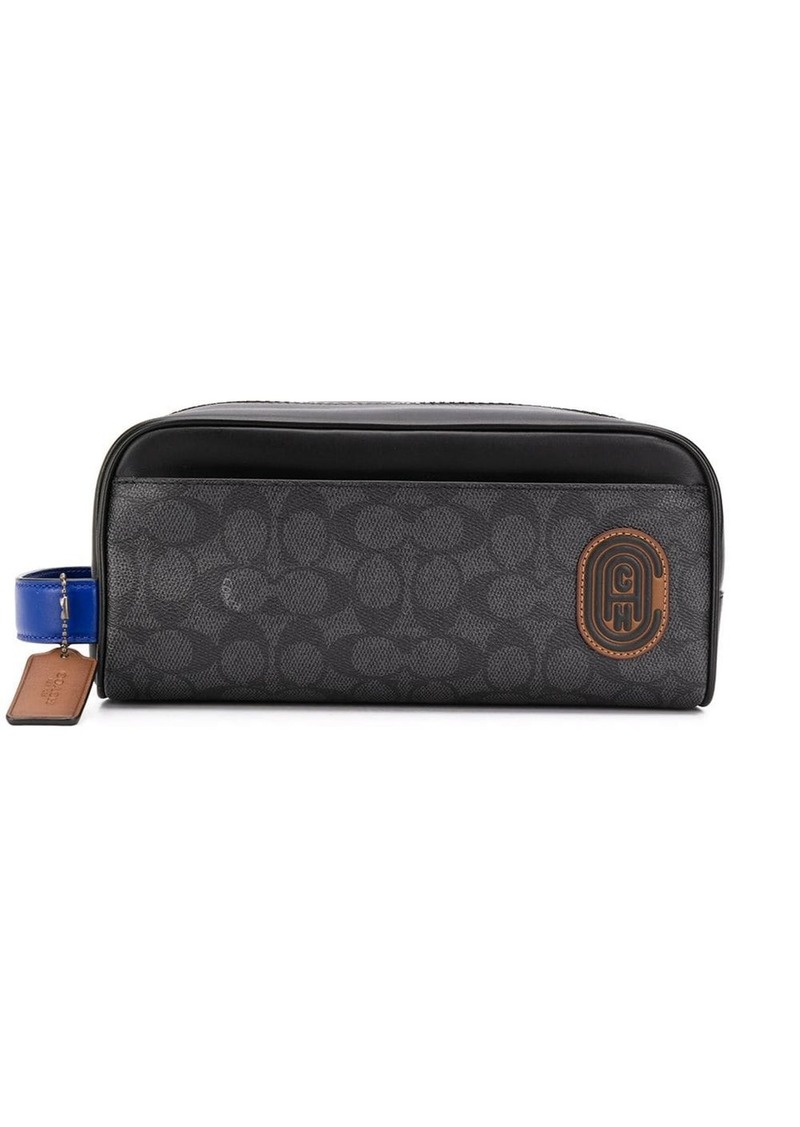 Coach logo print wash bag