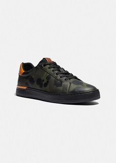 Coach lowline low top sneaker with camo print