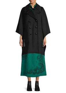 Coach 1941 Luxe Wool & Leather Cape