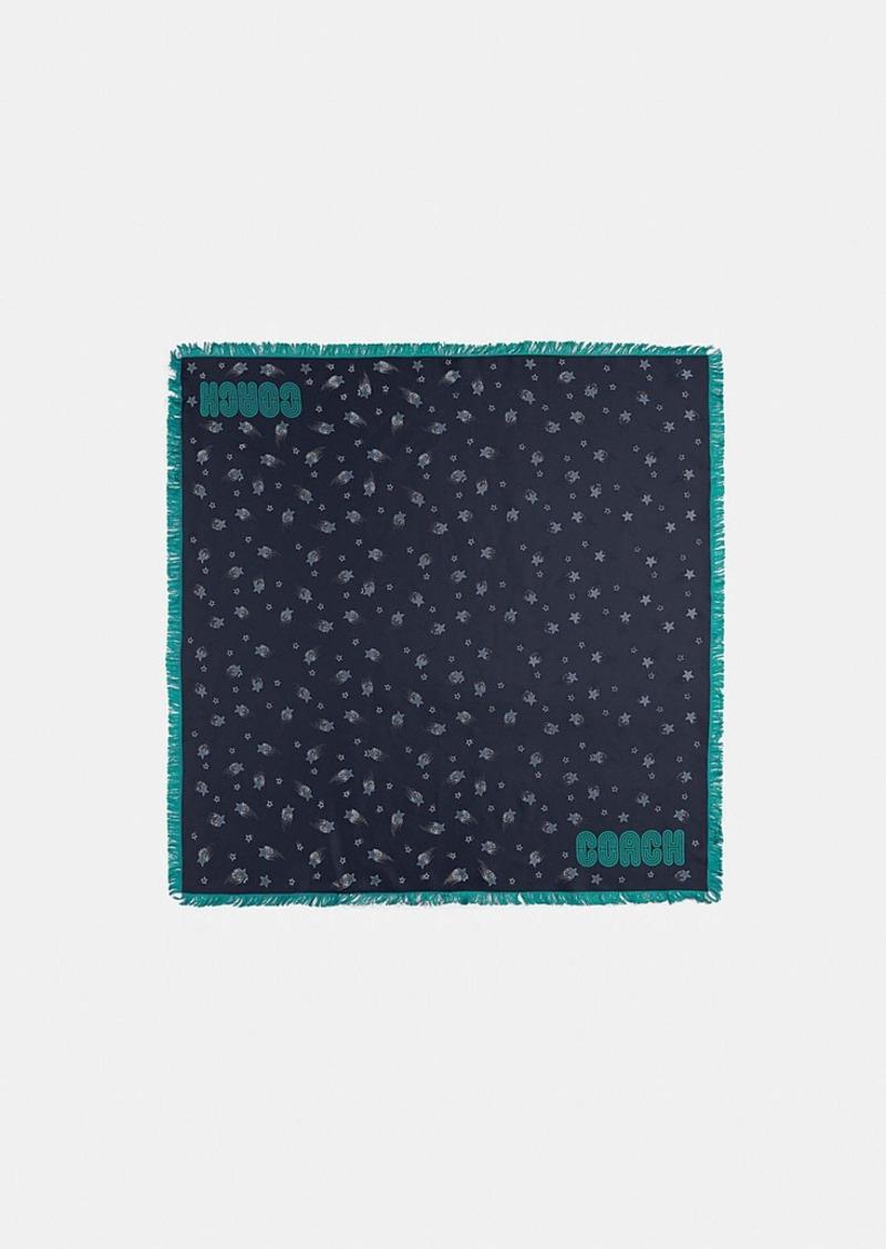 Coach magic star silk square scarf