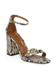 Coach Maya Ankle-Strap Leather Sandals