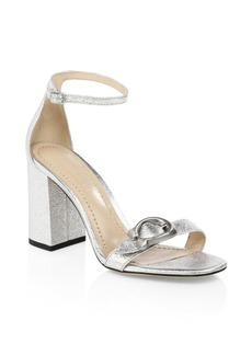 Coach Maya Ankle-Strap Metallic Sandals