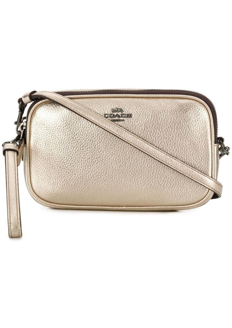 Coach metallic crossbody bag