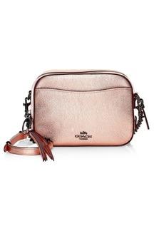 Coach Metallic Leather Camera Bag