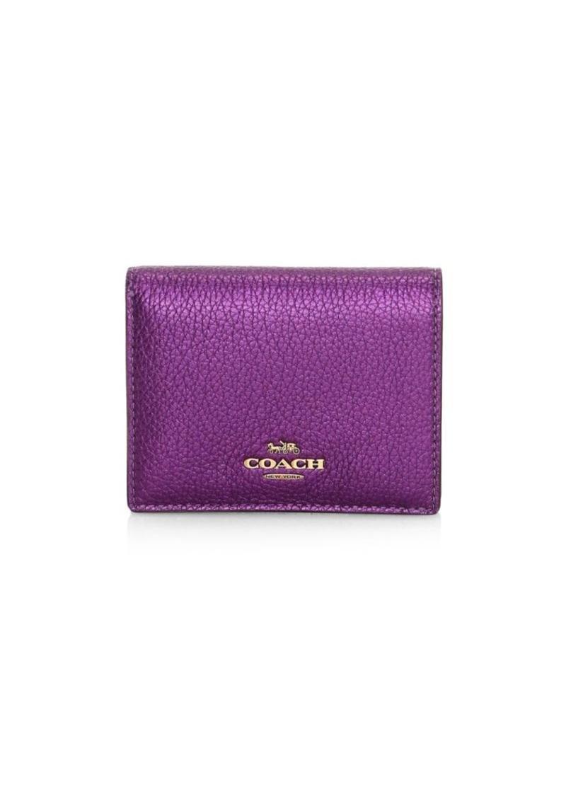 Coach Metallic Leather Bi-Fold Wallet