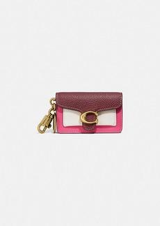 Coach mini tabby bag charm in colorblock