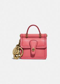 Coach mini willis bag charm