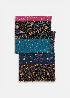 Coach mixed floral print oblong scarf