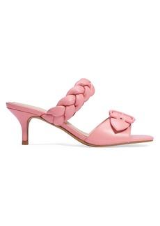 Coach Mollie Kitten-Heel Leather Sandals