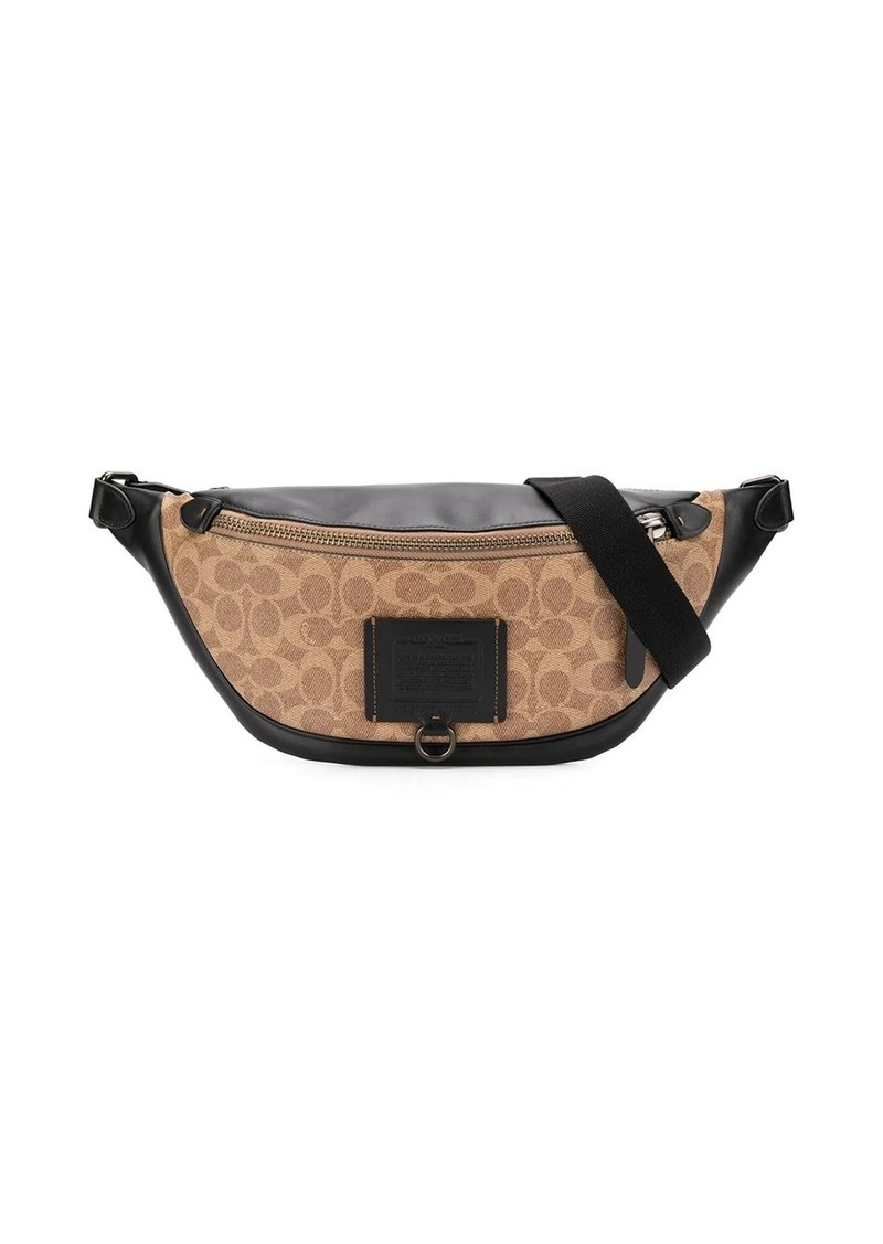 Coach monogram print belt bag