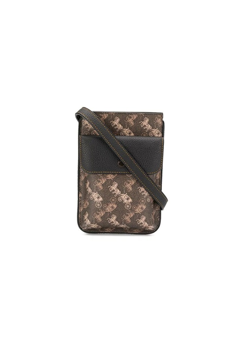 Coach monogram print shoulder bag