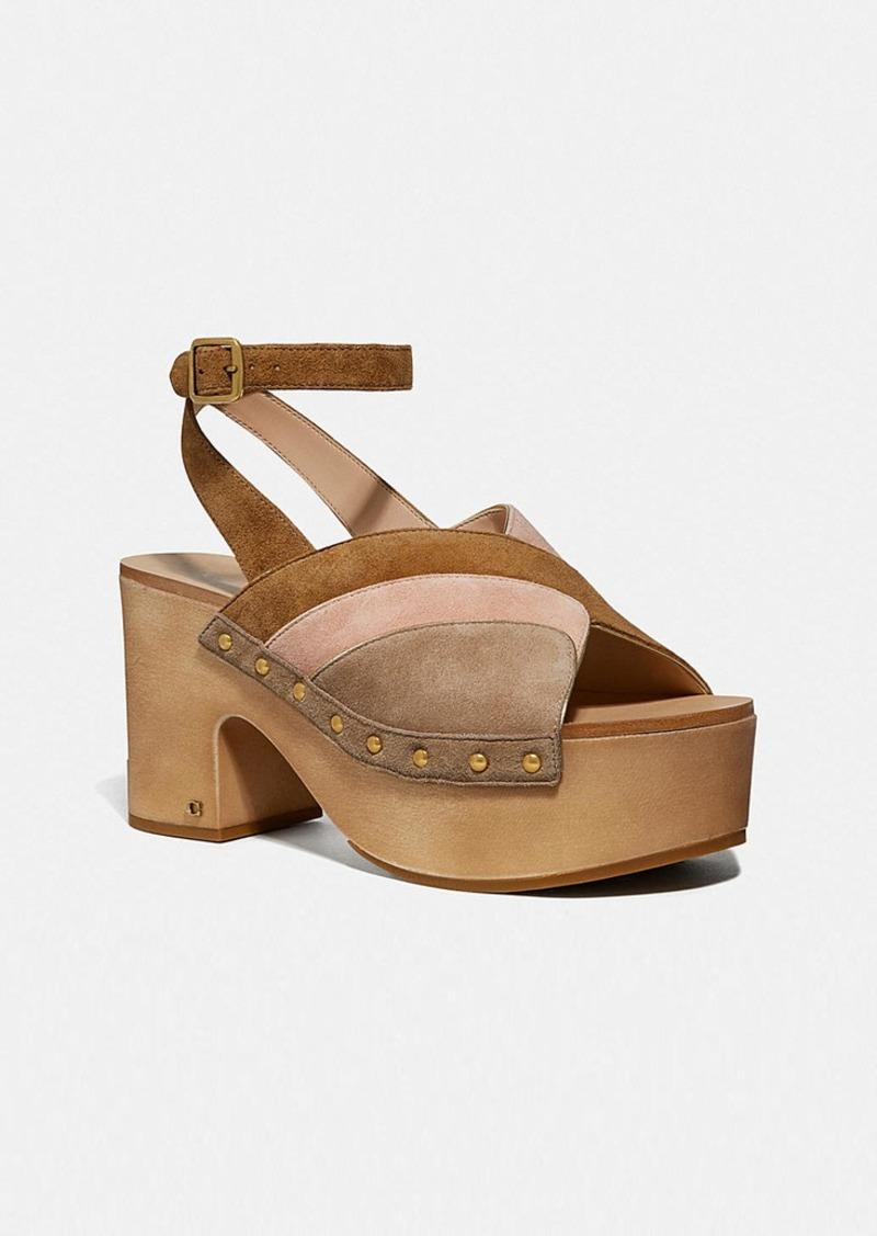 Coach nettie clog sandal