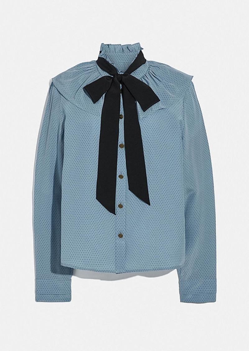 Coach gathered collar blouse