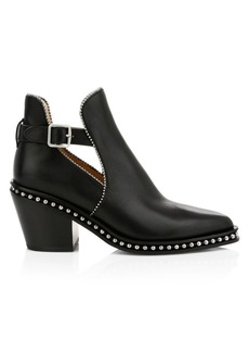 Coach Odessa Studded Ankle Buckle Leather Boots