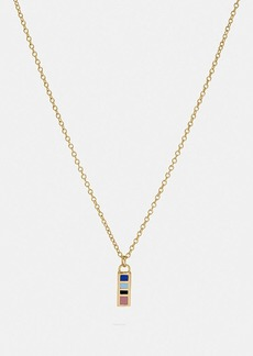 Coach 80's retro alphabet i charm necklace