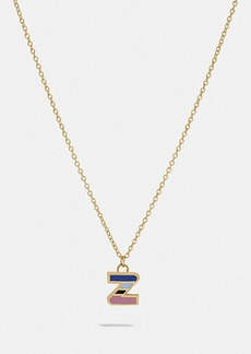 Coach 80's retro alphabet z charm necklace