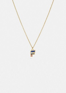 Coach 80's retro alphabet f charm necklace