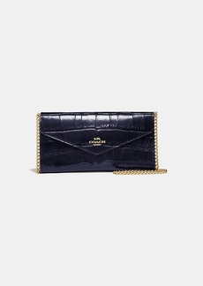 Coach envelope chain wallet