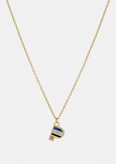 Coach 80's retro alphabet p charm necklace