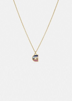 Coach 80's retro alphabet g charm necklace