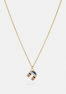 Coach 80's retro alphabet n charm necklace