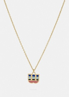 Coach 80's retro alphabet w charm necklace