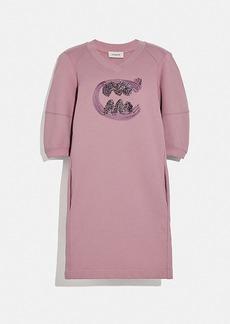 Coach rexy by guang yu short sleeve sweatshirt dress