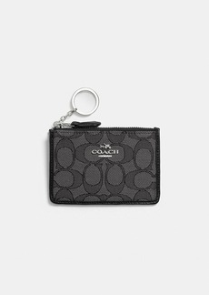 Coach mini skinny id case in signature jacquard