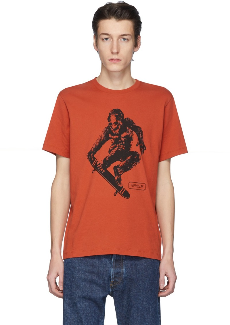 Coach Orange Skate Monster T-Shirt