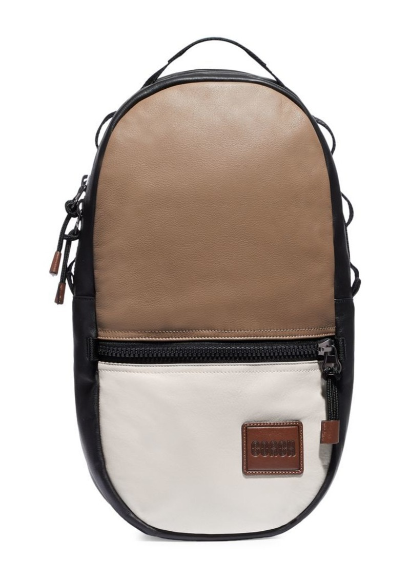 Coach Pacer Colorblock Leather Backpack
