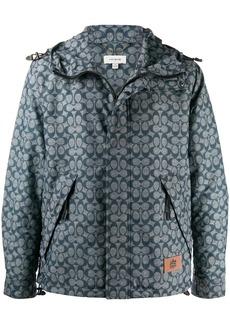 Coach packable windbreaker jacket