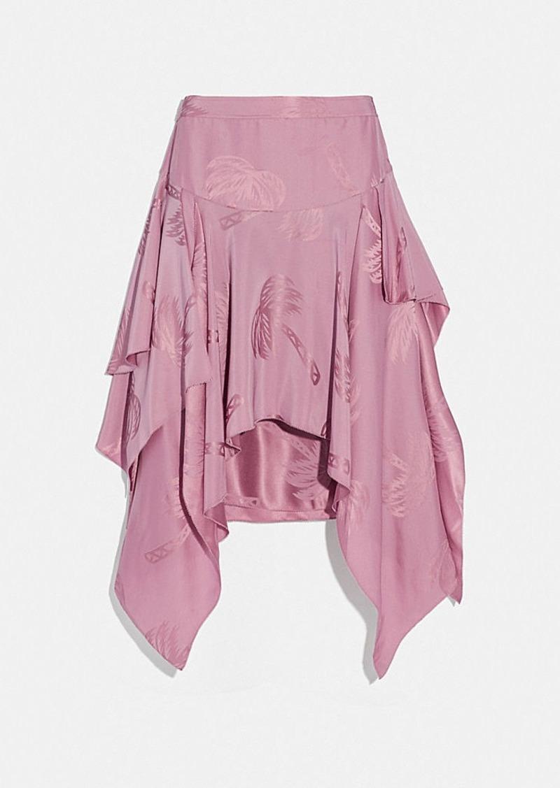 Coach palm tree print jacquard skirt