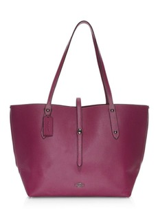 Coach Party Mouse-Print Market Leather Tote