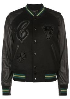 Coach patch detail varsity jacket