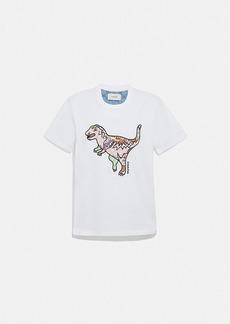 Coach patchwork rexy t-shirt in organic cotton