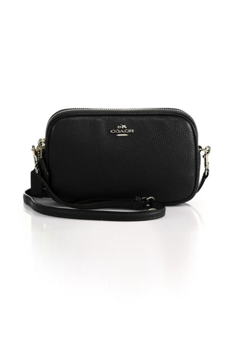 Coach Pebble Leather Convertible Clutch